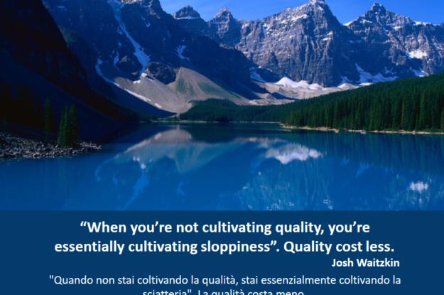 Josh Waitzkin's quote #Come penseresti ad un progetto se volessi assicurarti della qualità dell'esito?