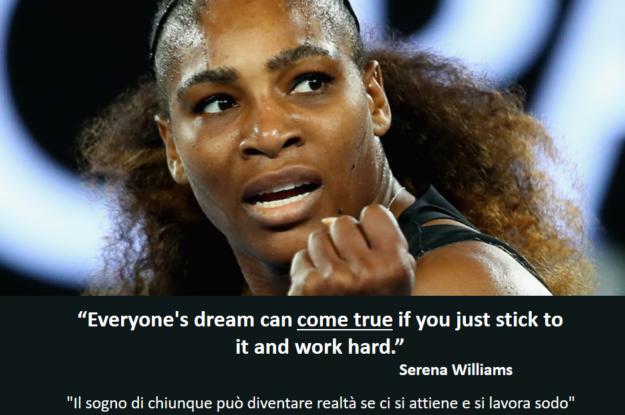 Serena Williams's quote #Chi vorresti avere come trainer per un giorno?