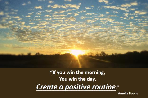 Amelia Boone's quote #Come crei una routine vincente?